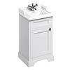 Burlington 50cm Freestanding Cloakroom Vanity Unit & Basin - Matt White profile small image view 1
