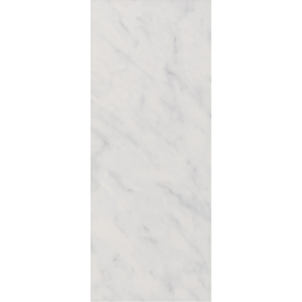 Florence Marbled White Wall Tile (Gloss - 200 x 500mm) Large Image