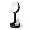Freestanding Cosmetic Mirror Dark Oak profile small image view 1