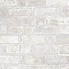 Fine Decor Loft Brick White Metallic Wallpaper profile small image view 1