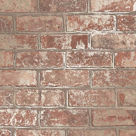 Fine Decor Loft Brick Natural Metallic Wallpaper