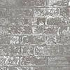 Fine Decor Loft Brick Grey Metallic Wallpaper profile small image view 1