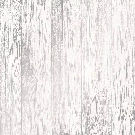 Fine Decor Loft Wood White Metallic Wallpaper