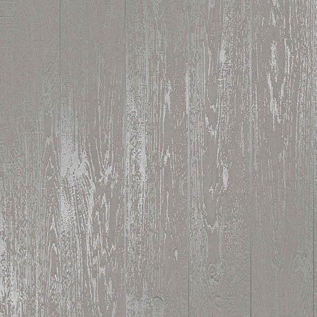 Fine Decor Loft Wood Grey Metallic Wallpaper