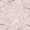 Fine Decor Marblesque Fractal Rose Gold Metallic Wallpaper profile small image view 1