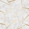 Fine Decor Marblesque Fractal Gold Metallic Wallpaper profile small image view 1