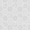 Fine Decor Ceramica Hex Grey & Silver Wallpaper profile small image view 1