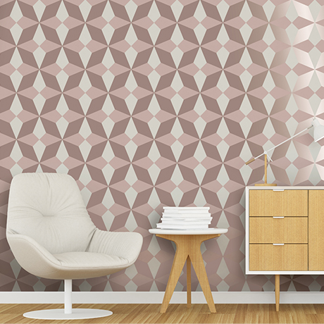 Fine Decor Nova Geo Rose Gold Patterned Wallpaper - FD42547