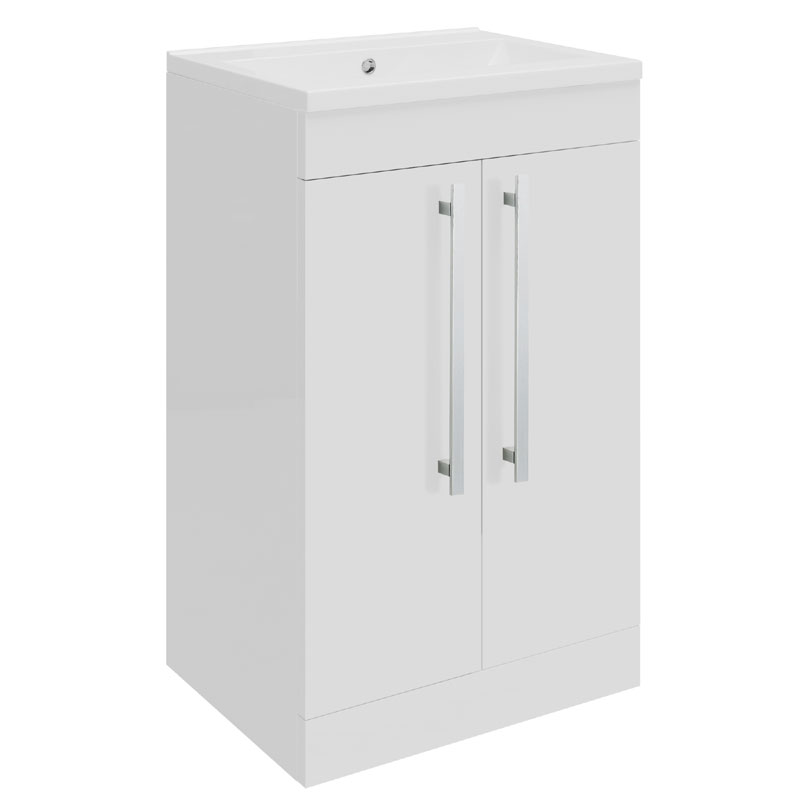 Ultra - Design Compact Floor Mounted Unit w/ Basin W494 x D383mm - High Gloss White - FDE020 profile large image view 1