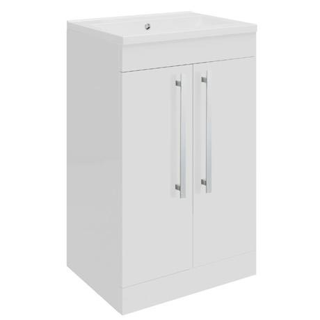 Ultra - Design Compact Floor Mounted Unit w/ Basin W494 x D383mm - High Gloss White - FDE020