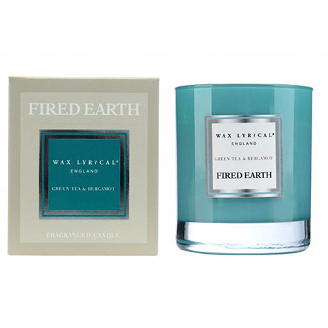 Wax Lyrical Fired Earth Green Tea & Bergamot Boxed Glass Scented Candle