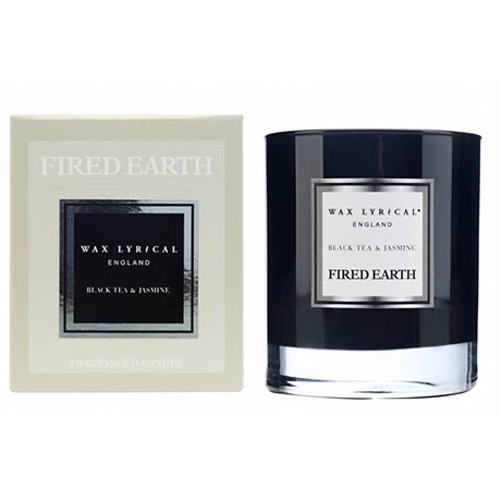 Wax Lyrical Fired Earth Black Tea & Jasmine Boxed Candle Glass