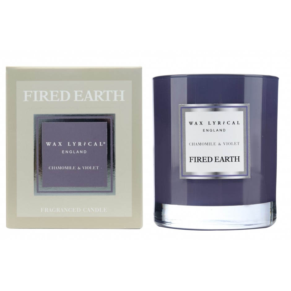 The Wax Lyrical Fired Earth Chamomile & Violet Scented Candle