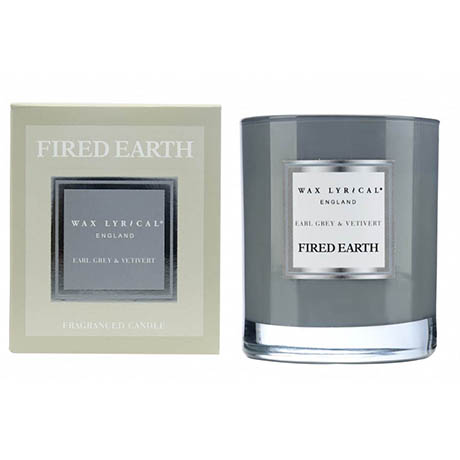 Wax Lyrical Fired Earth Earl Grey & Vetivert Boxed Glass Scented Candle