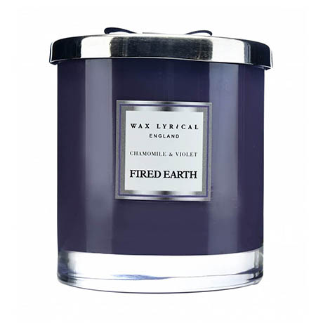 Wax Lyrical Fired Earth Chamomile & Violet Large 2 Wick Scented Candle