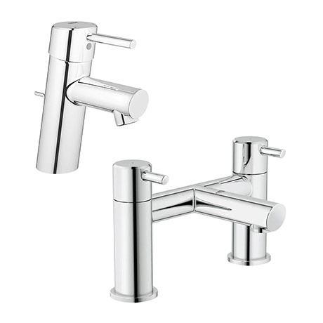 Grohe Feel/Concetto Tap Package (Bath + Basin Tap)