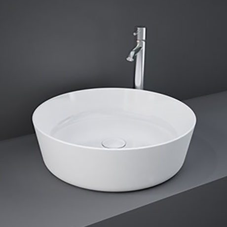 RAK Feeling 420mm 0TH Round Counter Top Basin - FEECT4200AWHA