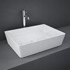 RAK Feeling 500 x 360mm 0TH Rectangular Counter Top Basin - FEECT5000AWHA profile small image view 1