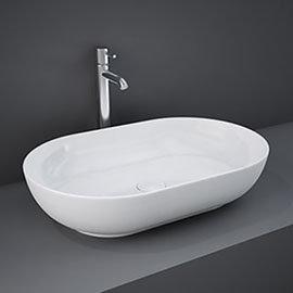 RAK Feeling 550 x 350mm 0TH Oval Counter Top Basin - FEECT5500AWHA