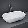 RAK Feeling 550 x 350mm 0TH Oval Counter Top Basin - FEECT5500AWHA profile small image view 1