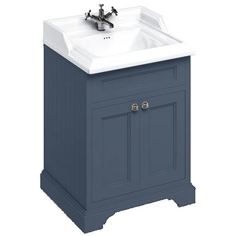 Burlington 65 2-Door Vanity Unit & Classic Basin - Blue