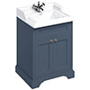 Burlington 65 2-Door Vanity Unit & Classic Basin - Blue profile small image view 1