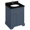 Burlington 65 2-Door Vanity Unit & Minerva Black Granite Worktop with Basin - Blue profile small image view 1