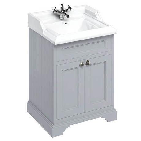Burlington 65 2-Door Vanity Unit & Classic Basin - Classic Grey