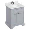 Burlington 65 2-Door Vanity Unit & Minerva Worktop with Basin - Classic Grey profile small image view 1