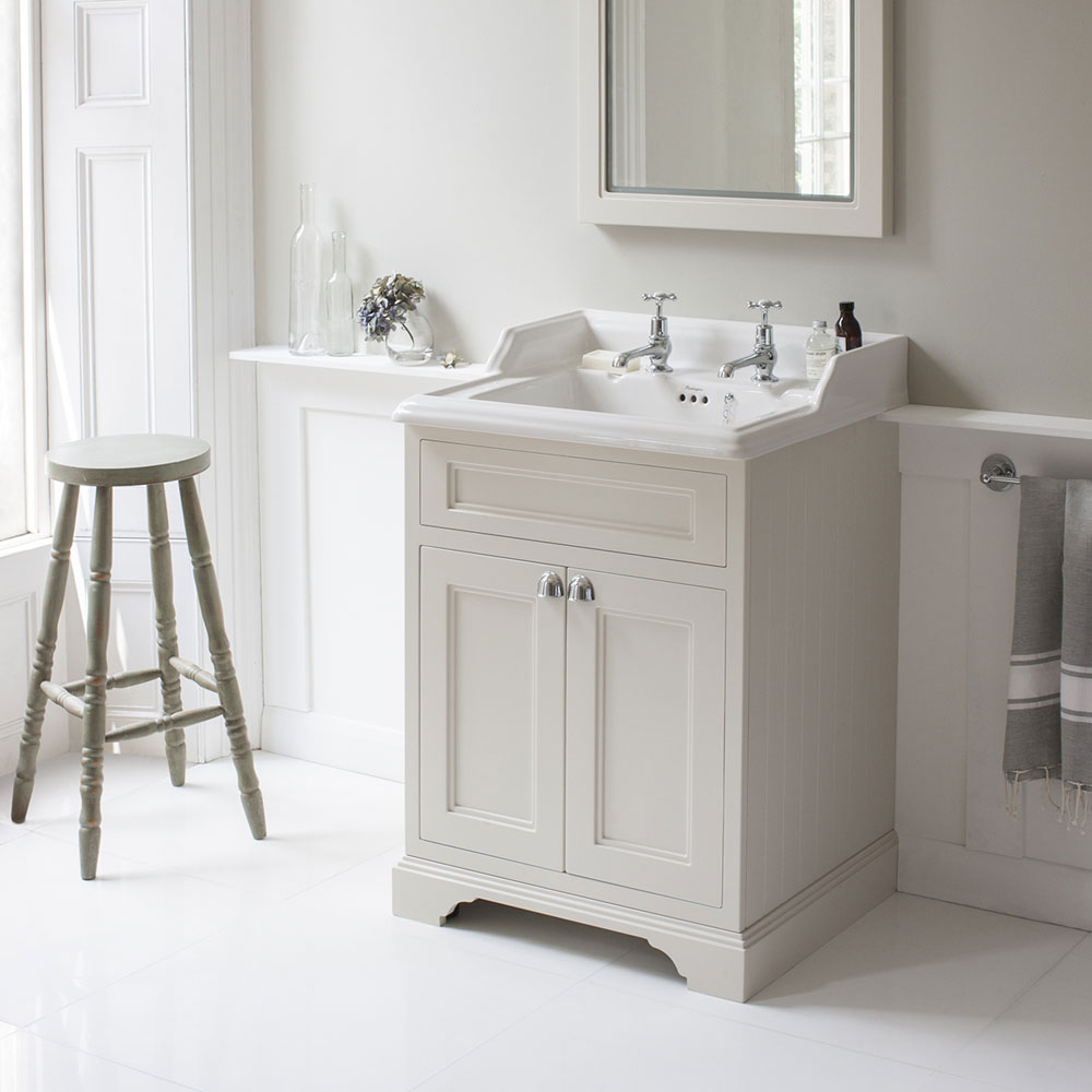 Burlington 65 2-Door Vanity Unit & Classic Basin - Matt White Feature Large Image