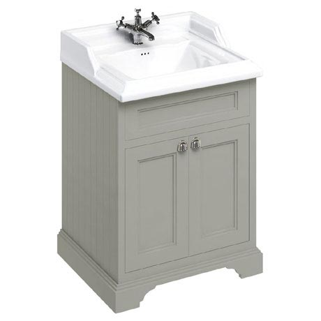 Burlington 65 2-Door Vanity Unit & Classic Basin - Dark Olive