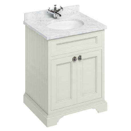 Burlington 65 2-Door Vanity Unit & Minerva Worktop with Basin - Sand