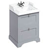 Burlington 65 2-Drawer Vanity Unit & Classic Basin - Classic Grey profile small image view 1