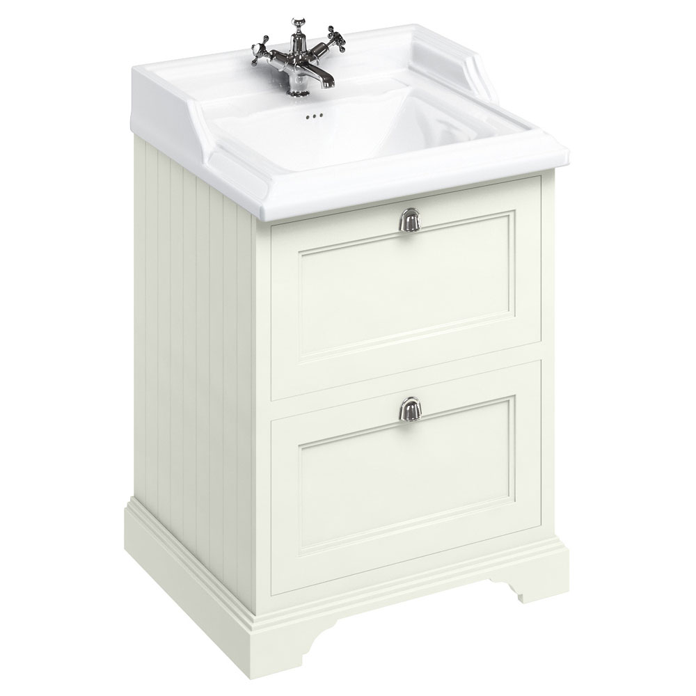 Burlington 65 2-Drawer Vanity Unit & Classic Basin - Sand Large Image