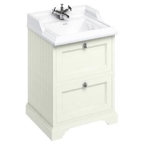 Burlington 65 2-Drawer Vanity Unit & Classic Basin - Sand