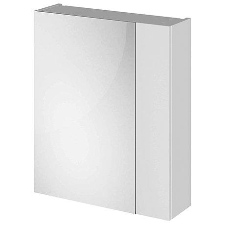 Fusion 600 Gloss Grey Mist 75/25 Split Mirror Unit