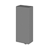 Fusion 300x182mm Gloss Grey Fitted Wall Unit profile small image view 1