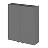 Fusion 500x182mm Gloss Grey Fitted Wall Unit profile small image view 1