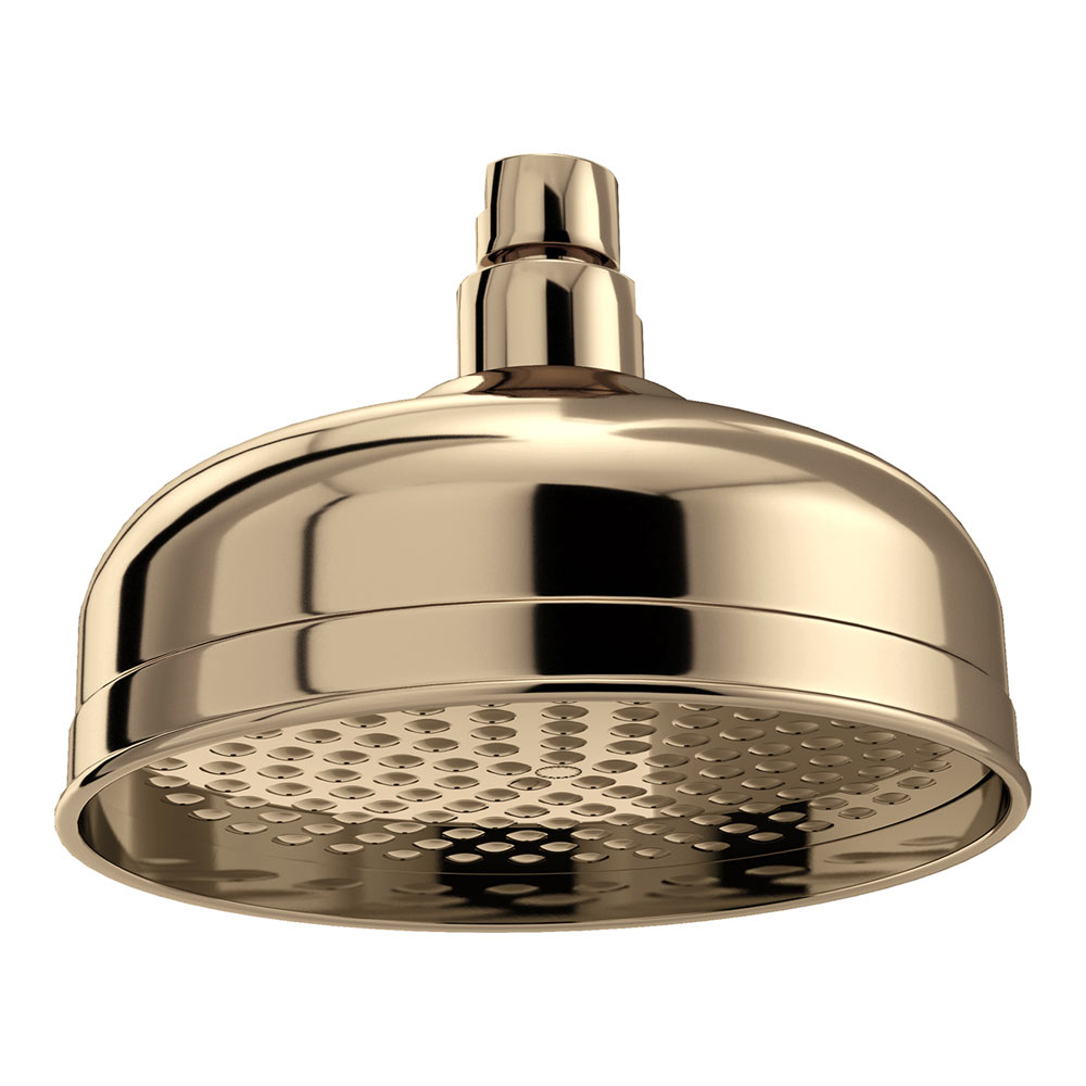 Bristan 145mm Traditional Round Fixed Head - Gold - FH-TDRD01-G