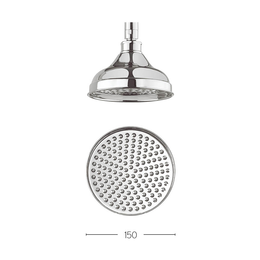 Crosswater - Belgravia 150mm Round Fixed Showerhead - FH06C