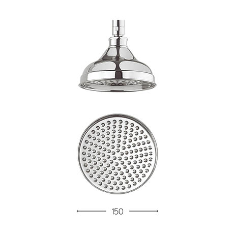 Crosswater - Belgravia 150mm Round Fixed Showerhead - FH06C