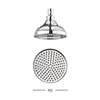 Crosswater - Belgravia 150mm Round Fixed Showerhead - FH06C profile small image view 1