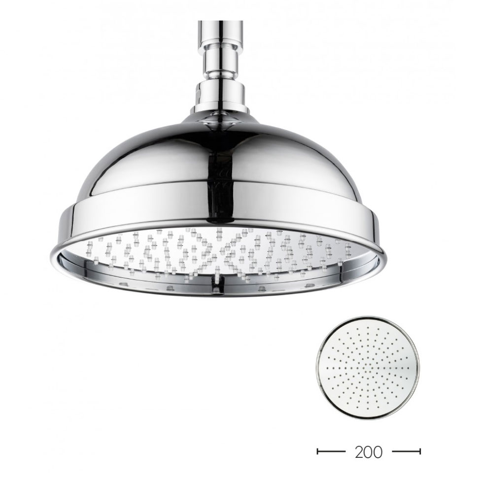 Crosswater - Belgravia 200mm Easy Clean Fixed Showerhead - FH08C_EC Large Image