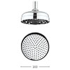 Crosswater - Belgravia 200mm Easy Clean Fixed Showerhead - FH08C_EC+ profile small image view 1