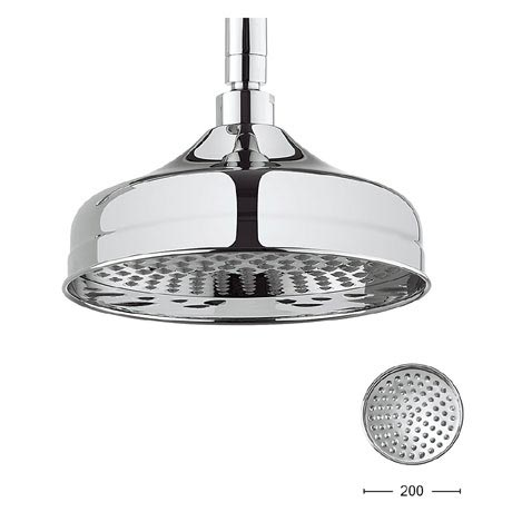 Crosswater - Belgravia 200mm Round Fixed Showerhead - FH08C