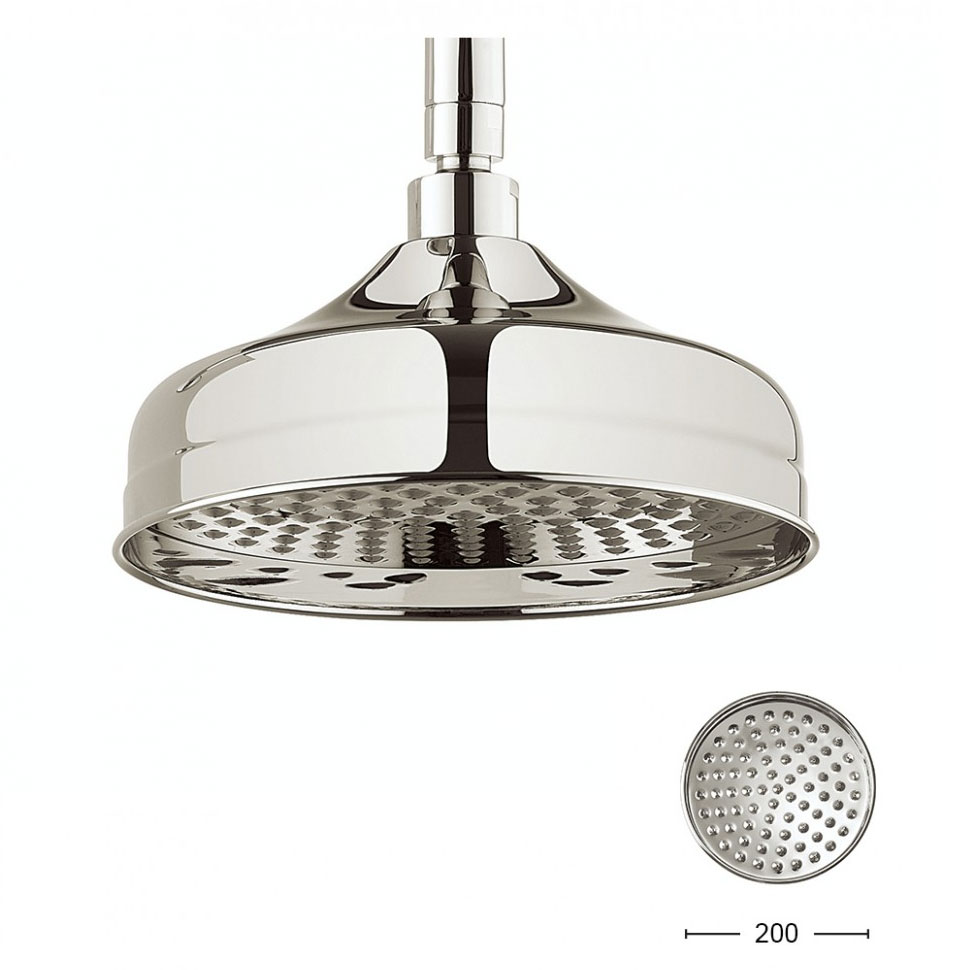 Crosswater - Belgravia 200mm Round Fixed Showerhead - Nickel - FH08N Large Image
