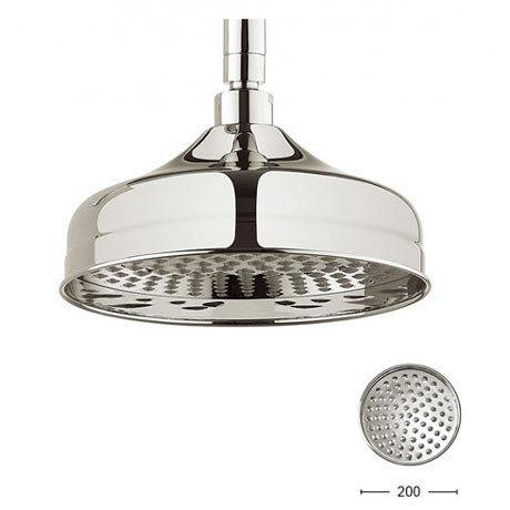 Crosswater - Belgravia 200mm Round Fixed Showerhead - Nickel - FH08N