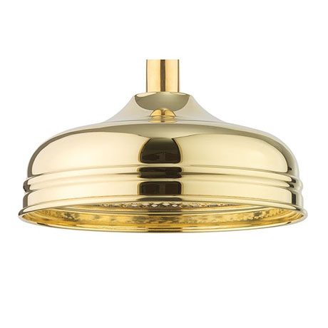 Crosswater Belgravia Unlacquered Brass 200mm Round Fixed Showerhead - FH08Q