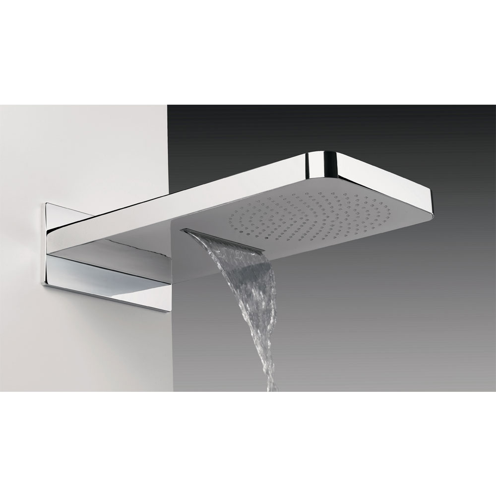 Crosswater - Revive Rectangular Waterfall Fixed Showerhead - FH2000C Profile Large Image