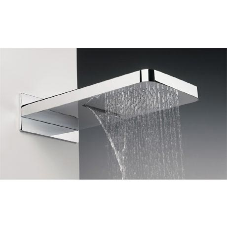 Crosswater - Revive Rectangular Waterfall Fixed Showerhead - FH2000C
